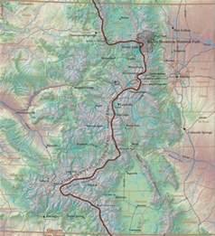 divide colorado map map of continental divide in colorado my