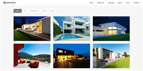theme wordpress architecture bauhaus architecture portfolio wordpress theme by