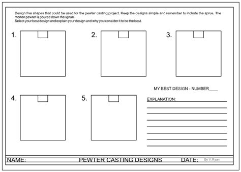 layout worksheet mdf mould design and worksheet