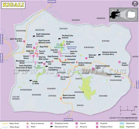 rwanda map map of kigali city rwanda