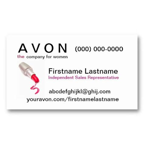 17 Best Avon Business Cards Templates Images On Pinterest Business Card Design Templates Avon Business Card Template