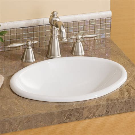 Drop In Bathroom Sinks by Cheviot 1102w Mini Oval Drop In Basin Self