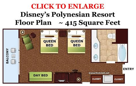 disney world floor plans photo tour of a standard room at disney s polynesian