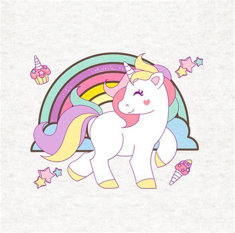 imagenes de unicornios infantiles para colorear prancing unicorn with rainbow