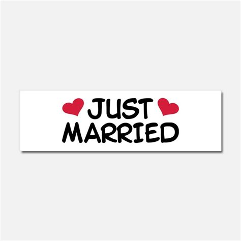 Auto Sticker Just Married by Just Married Car Accessories Auto Stickers License