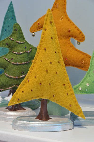 felt christmas trees noel pinterest