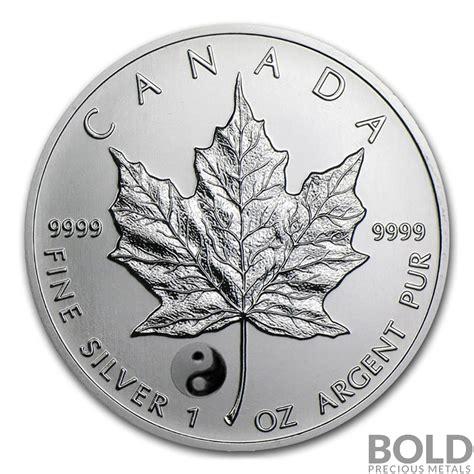 1 oz 2016 canadian maple leaf silver coin 2016 silver 1 oz canada maple leaf yin yang privy bold