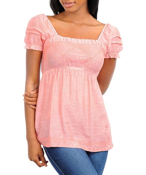 Blouse Vaby s coral baby doll style top blouse s nwot ebay