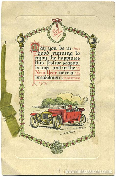 new year vintage greeting cards 1920s 1950s car related and new year s cards