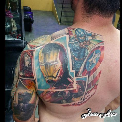 tattoo hero app javi avengers marvel avengers ironman iron man captain