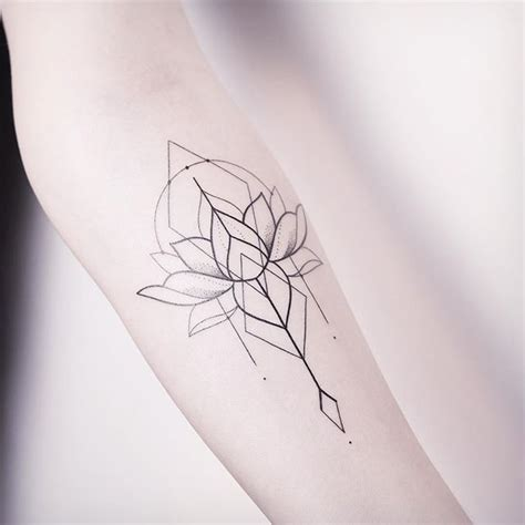geometric lotus tattoo the 25 best ideas about tribal lotus on
