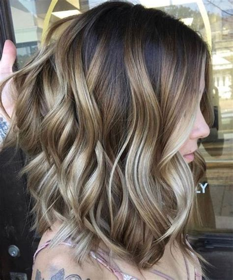 Trendy Haircuts Ideas Strawberry Bronde Balayage Bob By Kellymassiashair New Gorgeous Balayage Highlights On Medium Layered Hairstyles For To Try This Year Hair