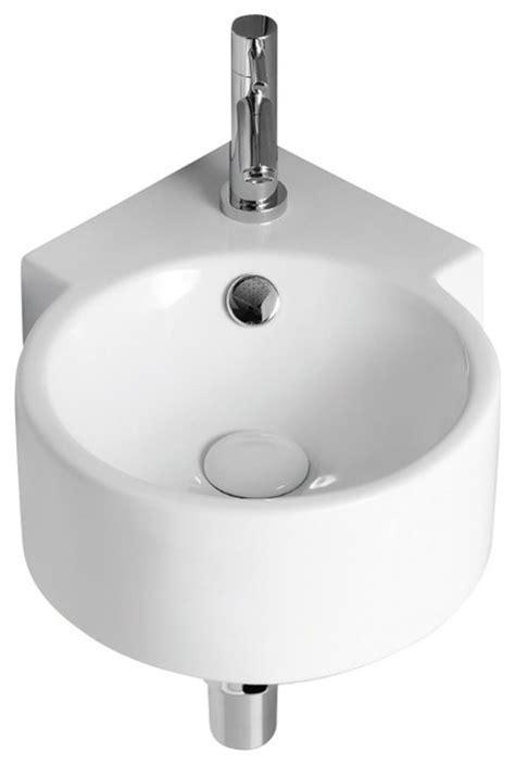 Ceramic Corner Kitchen Sink White Ceramic Wall Mounted Corner Bathroom Sink