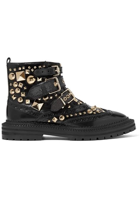 burberry boots sale burberry burberry everdon buckled studded glossed leather