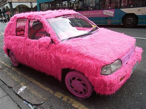 pink sparkly mercedes furry pink car i would die lol pinterest pink