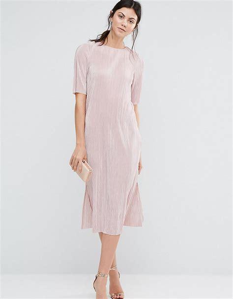 Asos T Shirt In Pink asos pliss 233 t shirt dress in pink lyst