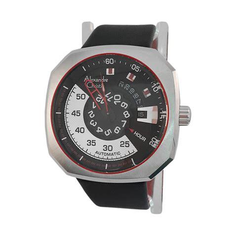 Tali Kulit Jam Tangan Pria Alexandre Christie Hitam Original Murah harga alexandre christie 1430958 analog tali kulit jam
