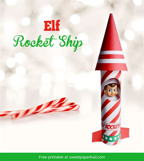 Printable Elf On The Shelf Rocket Ship | elf on the shelf rocket ship free printable sweet