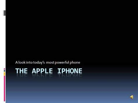 the apple iphone authorstream