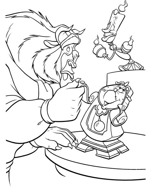 beauty and the beast characters coloring pages siudynet раскраски для девочек раскраски для мальчиков раскраски