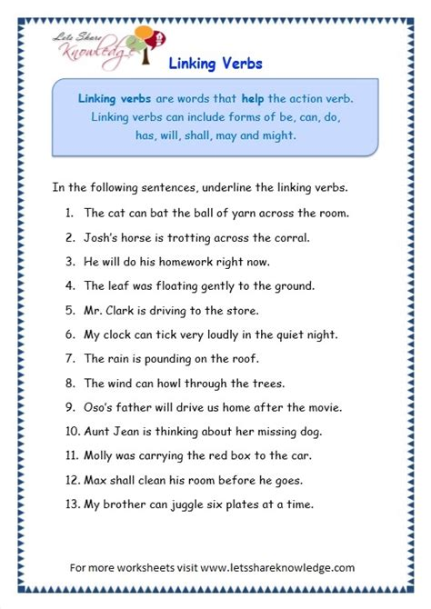 verbs worksheets for grade 4 with answers grade 3 grammar topic 14 helping verbs worksheets lets