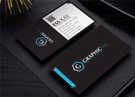 business card black stock ai template free modern black business card template design