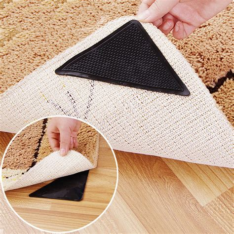 carpet rug gripper rug carpet mat grippers non slip anti skid reusable silicone grip pads a