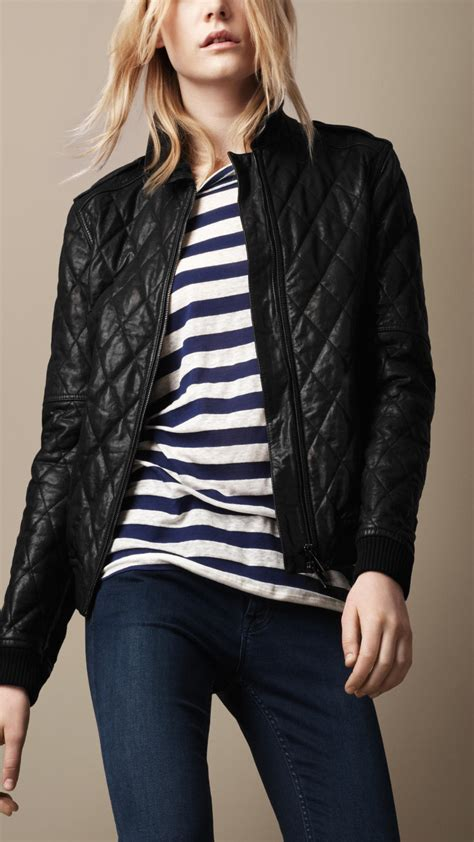 Fashion Burberry 3in1 burberry brit quilted leather bomber jacket in black lyst