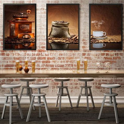 citynoise life cooking home decor classic coffee triptych canvas modular pictures prints oil