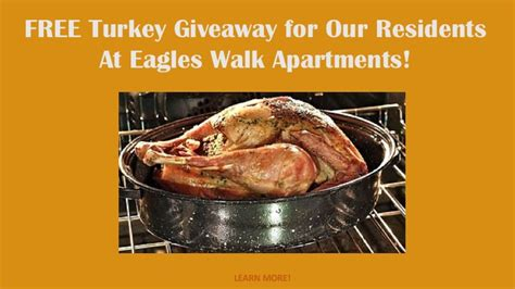 Good Sam Monthly Giveaway - free turkey giveaway contest at eagles walk hirschfeld