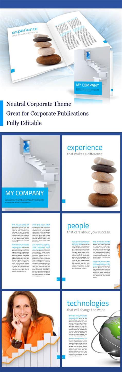 indesign elegant corporate brochure template