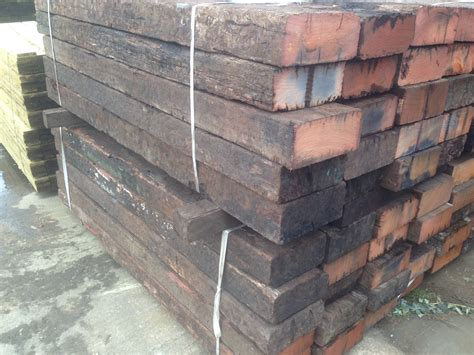 Untreated Railway Sleepers by Used Untreated Hardwood Sleepers
