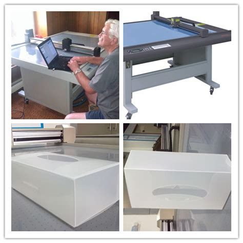 Paper Tri Fold Machine - tri fold paper box cutting table machine with certificate