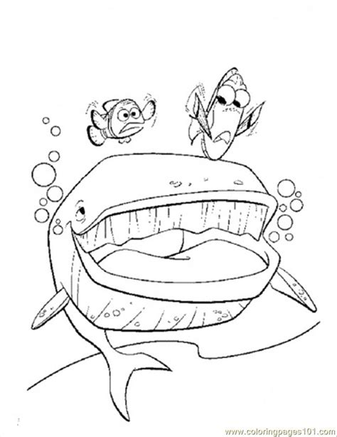 finding nemo coloring pages online coloring pages the whale cartoons gt finding nemo free