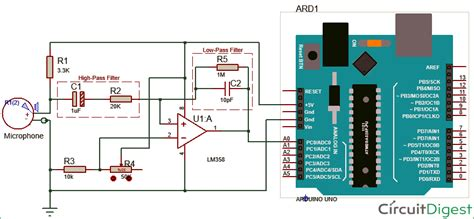 high pass filter arduino measure sound noise level in db with microphone and arduino