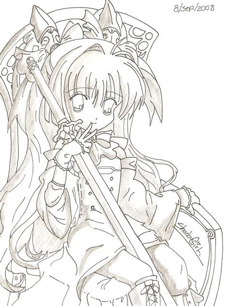 Collection of Dibujo De Chica Anime Para Colorear Dibujos Net ...