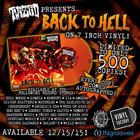 Every S S Back Vinyl Release Date - twiztid releasing limited edition back to hell vinyl