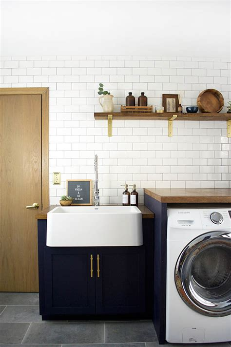 modern laundry before after a modern laundry room makeover for an