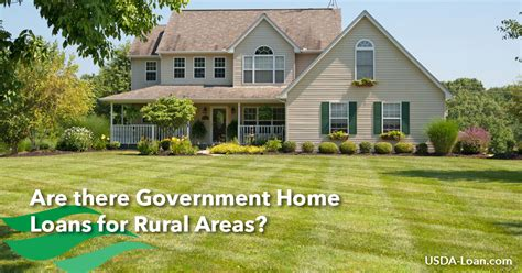 government housing loans for low income are there government home loans for rural areas usda loan