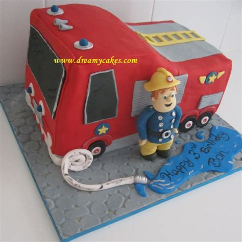 fireman sam cake  firetruck