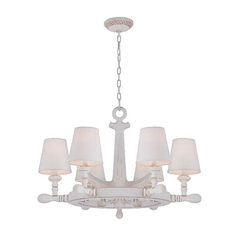 Ship Wheel Chandelier Ship S Wheel 6 Light Chandelier With Exceptional Nautical Style