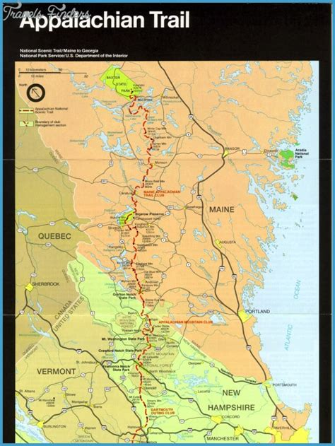 appalachian trail carolina map appalachian trail map carolina travel map