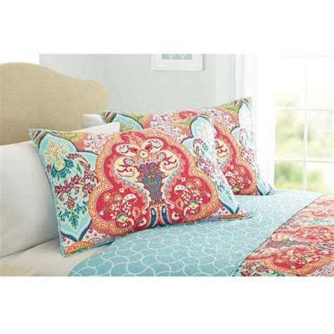 better homes and gardens jeweled damask bedding quilt sham