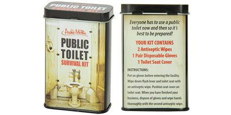 bathroom survival kit this public toilet survival kit is a necessity for nearly