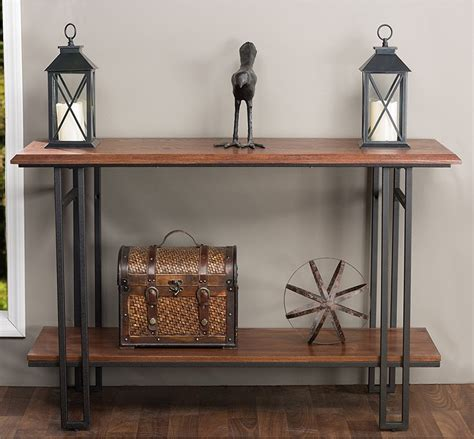 wood and metal table wood and metal console table decor console table wood