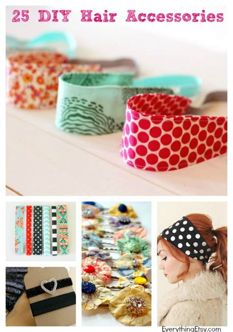 25 diy hair accessories to make now everythingetsy