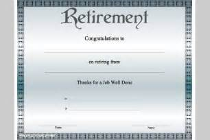 retirement certificate templates retirement certificate template sle templates
