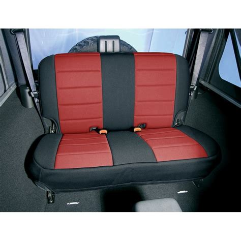 jeep tj rear seats all things jeep and black neoprene rear seat covers