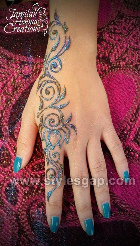 stylish glitter mehndi designs trends   collection