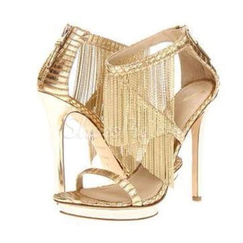 shoes high heels golden shoes wheretoget
